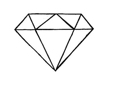 Como desenhar um Diamante (fácil) - How to Draw a Diamond (easy)