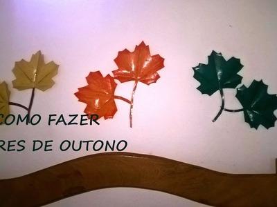 COMO FAZER - Flores de Outono