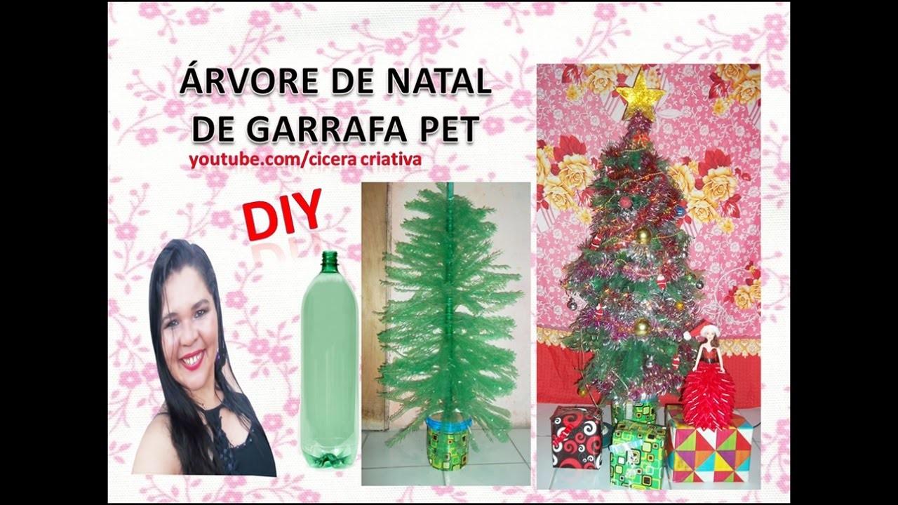 Como fazer uma árvore de natal de garrafa pet
