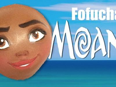 Como pintar cara para fofucha Moana - How to paint fofucha Moana face