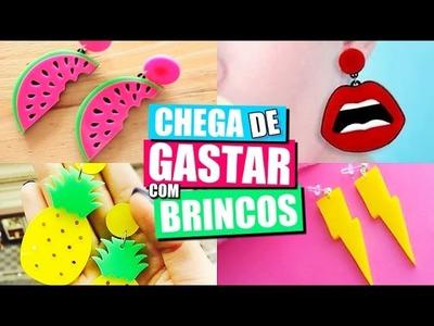 DIY: BRINCOS CASEIRO, BOCA, ABACAXI, RAIO, MELANCIA - SEM GASTAR NADA #2