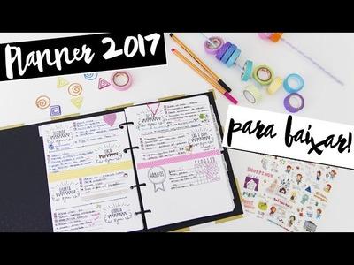 DIY: Como fazer seu Daily Planner  - PARA BAIXAR GRÁTIS! - Agenda de planejamento