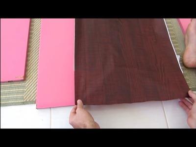 # DIY :: Painel de TV feito com porta e c. papel CONTACT ;)
