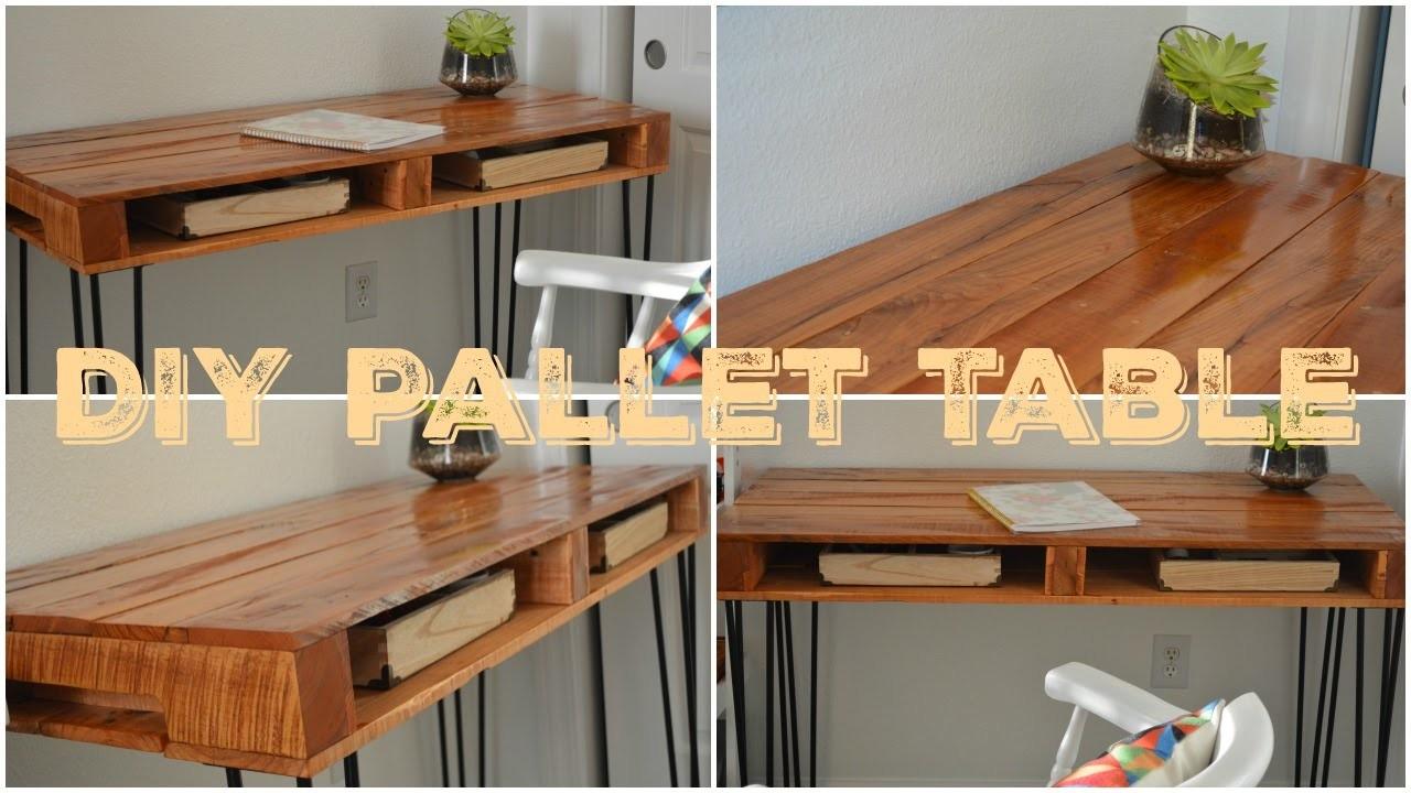 DIY Pallet Table. Faça Você Mesmo-Mesa de Palete