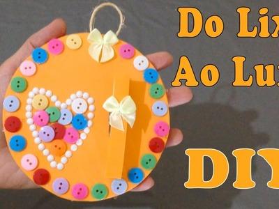 Do Lixo ao Luxo : Porta Recados com CD Usados - Reciclagem DIY Artesanato