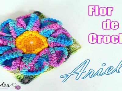 "Flor de Crochê Ariel - ""Diandra Schmidt Rosa"""