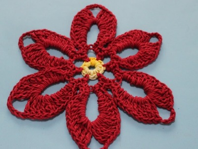 Flor em Crochê Para Decoração de Natal