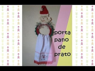 ♥porta pano de prato para a  decoração de natal♥
