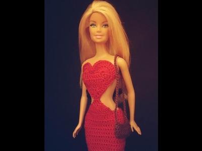 Bolsinha com franja para Barbie.croche - LiiArt
