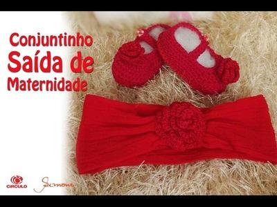 Conjuntinho Saída de Maternidade em Crochê - Professora Simone Eleotério