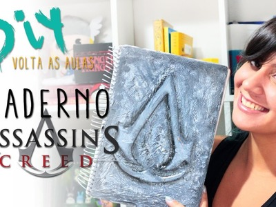 DIY: COMO FAZER CADERNO DO ASSASSINS CREED  ❤ DIY VOLTA AS AULAS GEEK