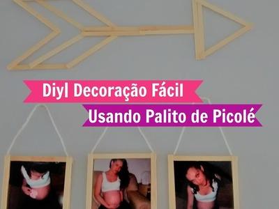 Diy| Decoração Fácil Usando Palito de Picolé | Carla Oliveira