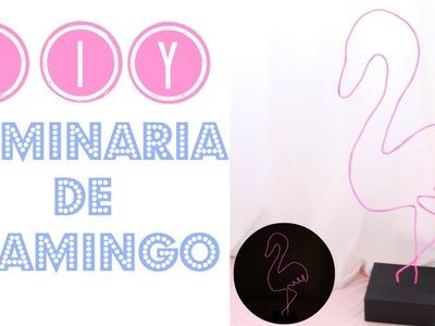 DIY Luminária de Flamingo Neon | Larissa Vale