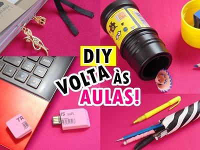 DIY MATERIAL ESCOLAR DIVERTIDO | Volta às aulas 2017  | Ally Arruda