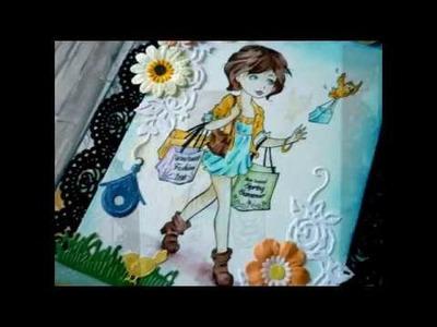 DIY - Mini Álbum Cascata. Waterfall Mini Album