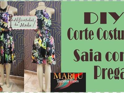DIY - Saia de Pregas com Cós embutido + molde - Curso de Corte e Costura - Passo a Passo