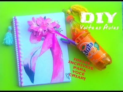 DIY VOLTA AS AULAS 2#. MATERIAL ESCOLAR DIVERTIDO - Diy back to school. Ft. Bella Rizzolo