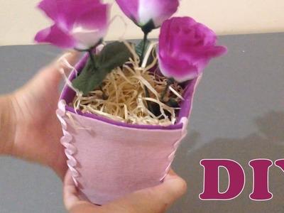 Do Lixo ao Luxo : Como Fazer Vaso com Caixa de Leite - Artesanato DIY