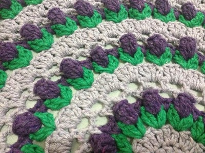 Toalha Botão de Flor. Flower Bud. Capullo de la Flor redonda crochê - Professora Maria Rita