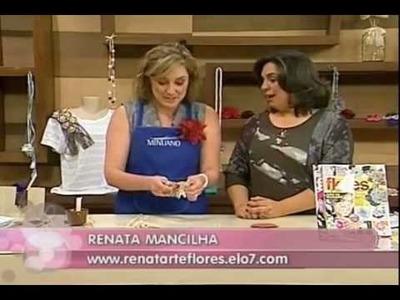 Aprenda a fazer uma headband com a Renata Arte & Flores