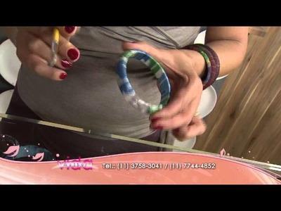 Aprenda a fazer uma pulseira com retalhos de seda!