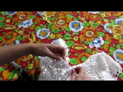 Aula 8- Manga  - Blusa de Crochê Ombro a Ombro com Ponto Abacaxi #9
