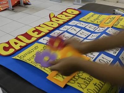 Calendário em E.V.A para sala de aula