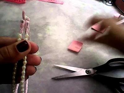 Como  fazer  um arquinho duplo, colocando pérolas no aro
