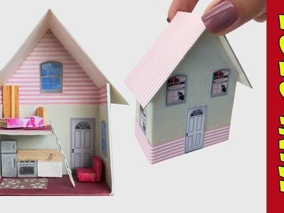 Como fazer uma Mini Casa de Bonecas para Barbie e Outras Bonecas!