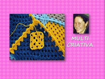 Crochê: como fazer um quadrado. Multicriativa Crochê