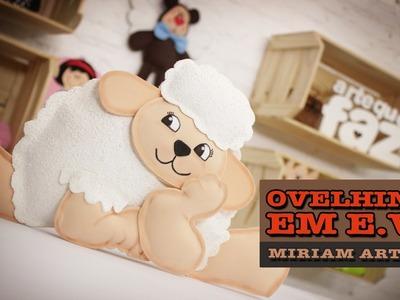 DIY - Ovelhinha em E.V.A (Miriam Arteira)