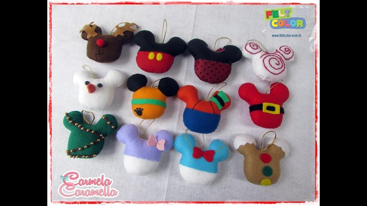 Feltrando sem Medo # especial de natal  bolas de natal Mickey
