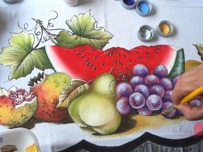 Frutas em Tecido (Aula 48. Parte 2)