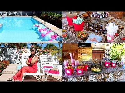 Organizando festa de aniversário gastando pouco - Pool Party #tuka23 | Por Tuka Sampaio ♡