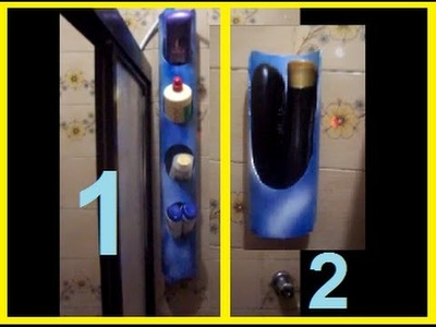 Suporte para frasco de shampoo e condicionador.