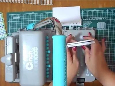 Usando a The Cinch para produzir uma caderneta personalizada