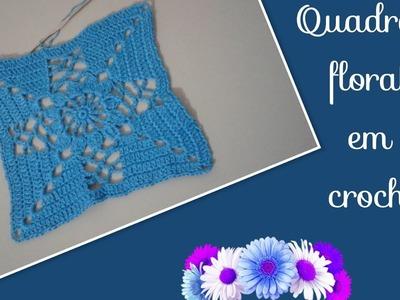 Versão canhotos:Quadrado floral em crochê # Elisa Crochê