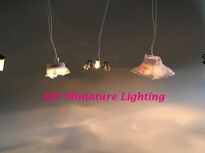 #8 DIY Miniature Dollhouse Lighting- Miniatura de Luminárias para Casinha de Boneca