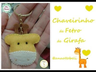 DIY: Chaveiro de feltro de Girafa
