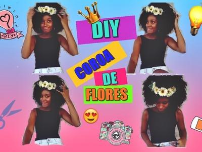 DIY- Coroa de flores