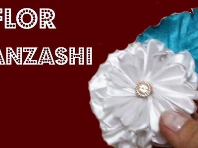 DIY: FLOR KANZASHI. DIY KANZASHI FLOWER