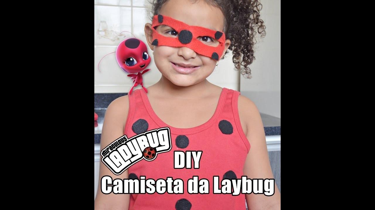DIY- MIRACULOUS LADYBUG- CAMISETA LADYBUG - APRENDA A FAZER