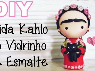 (DIY) Reciclando Vidrinho de Esmalte #2 Frida Kahlo (Volta as Aulas - Back To School)