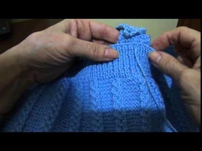 Macacão em tricô para bebê Parte 8