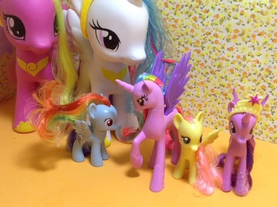Review e Unboxing : Rainbow Dash, Twiligth Sparkle, Fluttershy, Pinkie Pie, Gold Lily e Starling