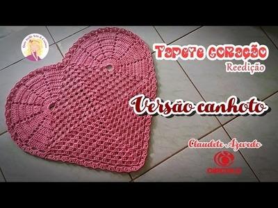 Tapete Coração Crochê (versão canhoto)