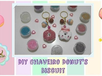 Chaveiro Donut's de Biscuit - Rejane Kesia