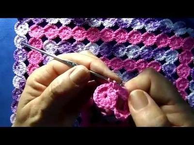 Círculos em croche - PARA CANHOTA