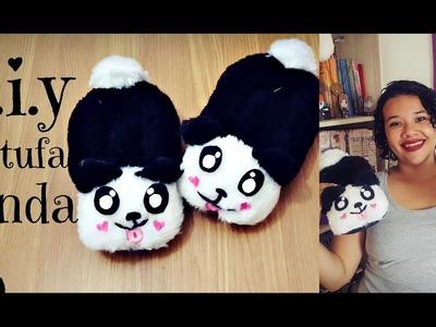 D.i.y -  Pantufa de Panda!