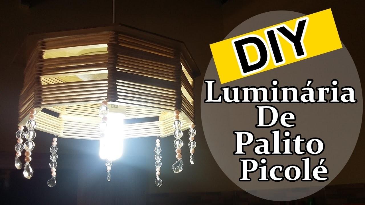 DIY - Luminária feita com palitos de picolé - Passo a Passo